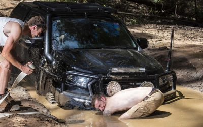 Getting dirty with the lads!